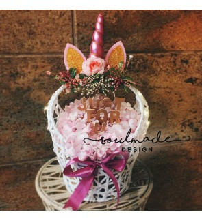 Unicorn Flower Basket