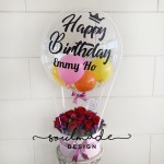Hot Air Balloon themed Passionate Roses