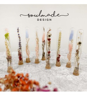 Dried Flowers with Test Tube Glass