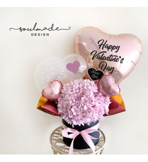 Pink Hydrangea with Pinkie Balloons Theme
